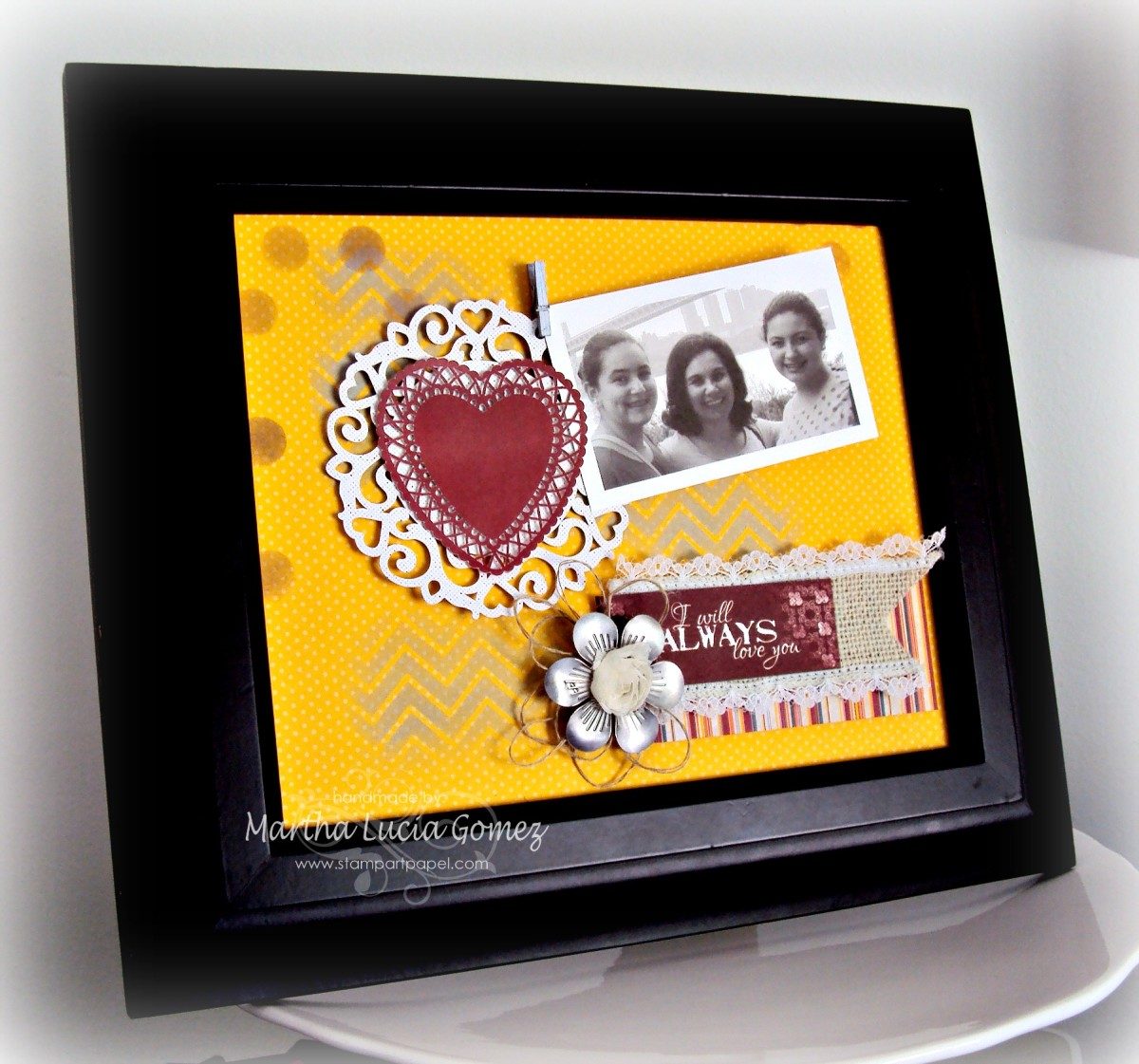 I Will Always Love You Frame by Martha Lucia Gomez for Quick Quotes - SIEMPRE TE AMARE