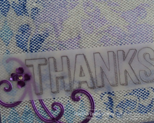 TRANSFERRED GLITTER WITH STENCIL