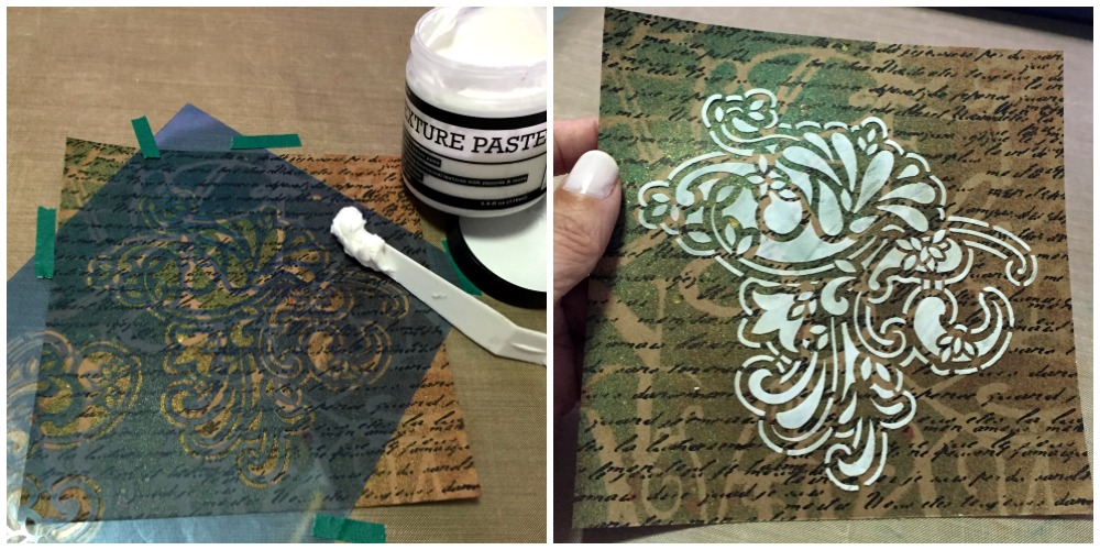 SPRAY AND TEXTURE WITH STENCILS
