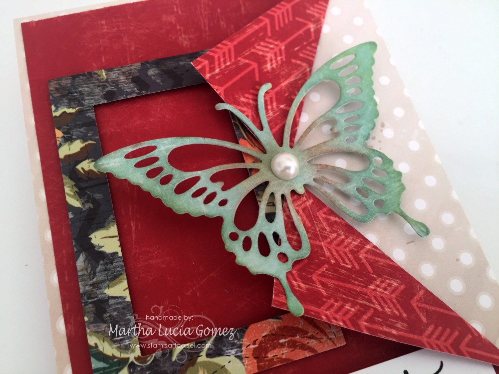 HUGS AND BUTTERFLY PEEK A BOO CARD