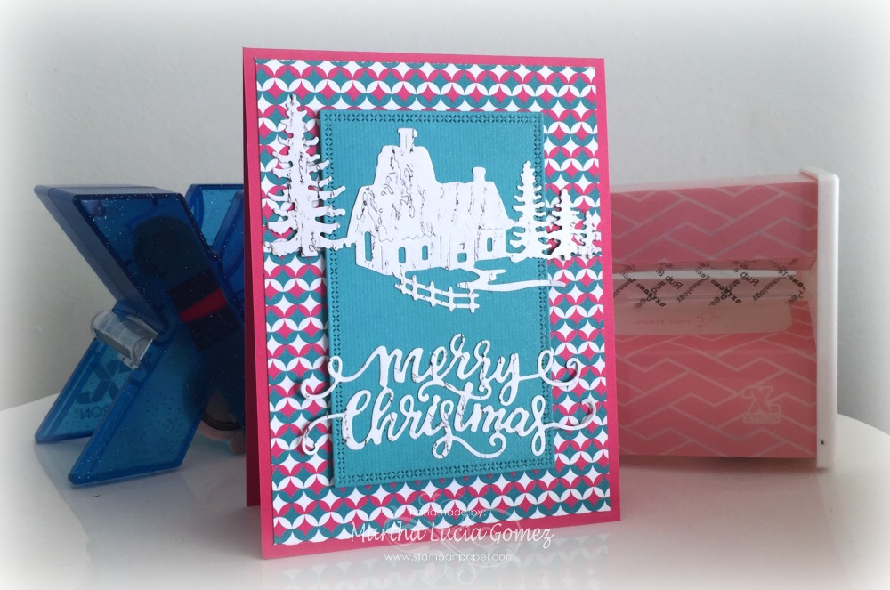 NON TRADITIONAL COLORS CHRISTMAS CARD