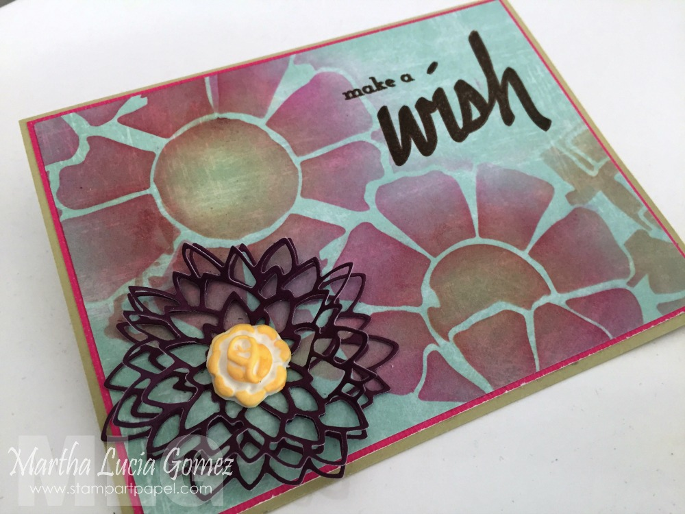 MAKE A WISH STENCILED CARD