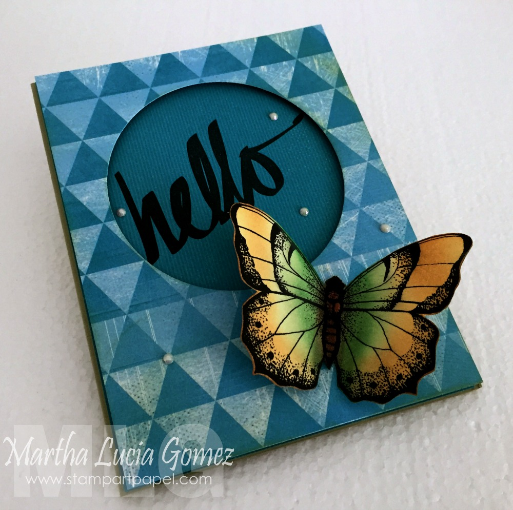 STAMPING WITH POWDERPUFF CHALK INK