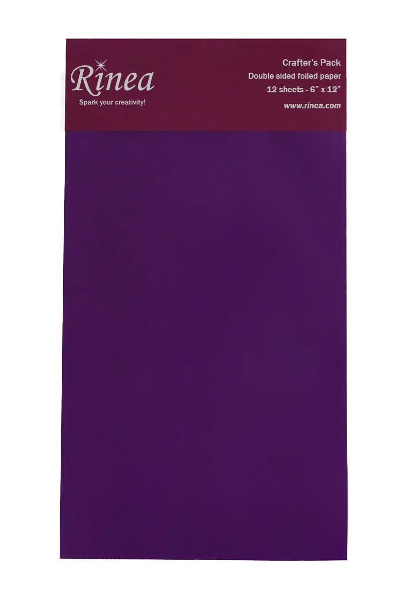 Violet/Gold Glossy Rinea Foiled Paper