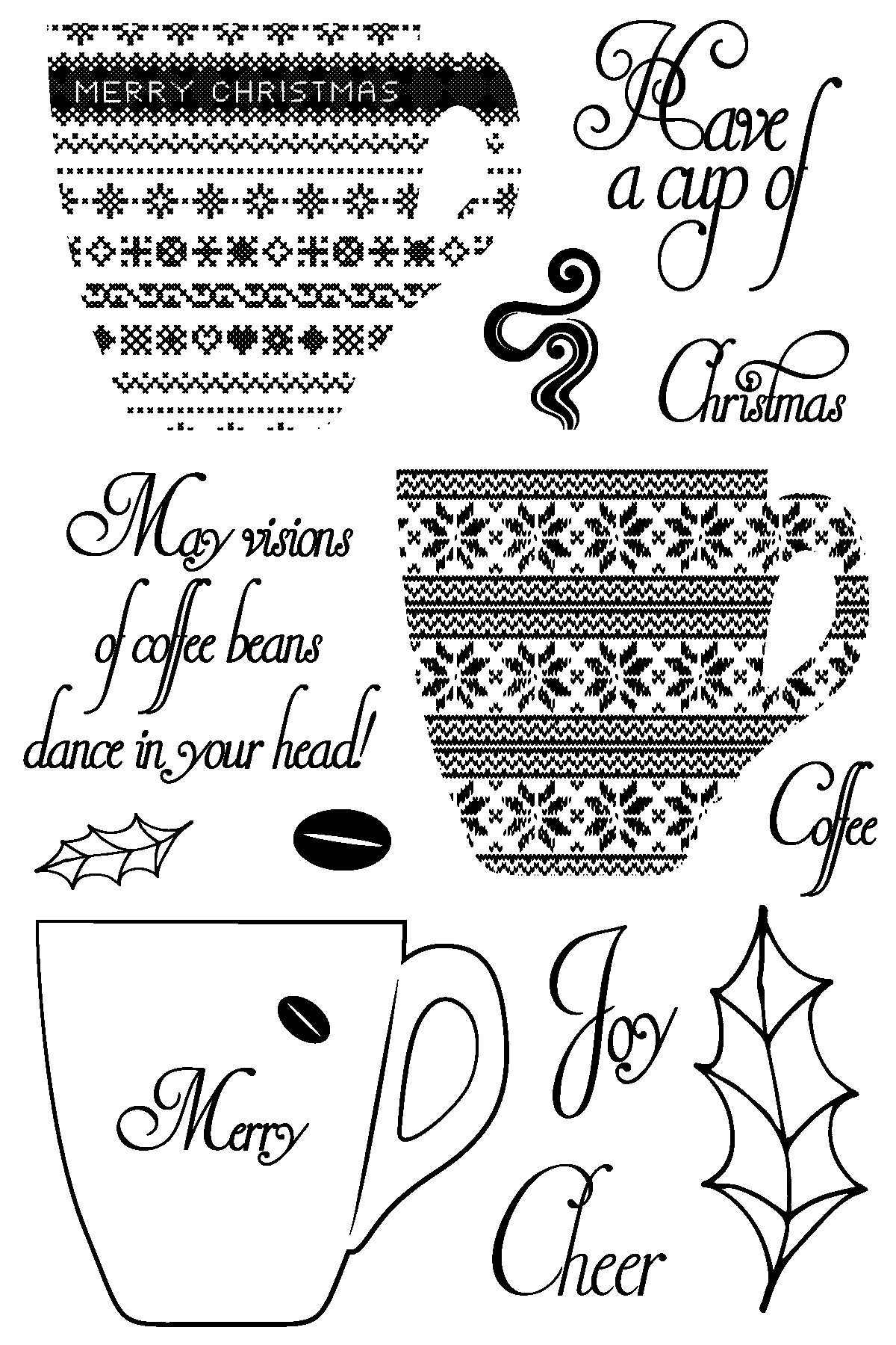 Christmas Coffee Stamp Set