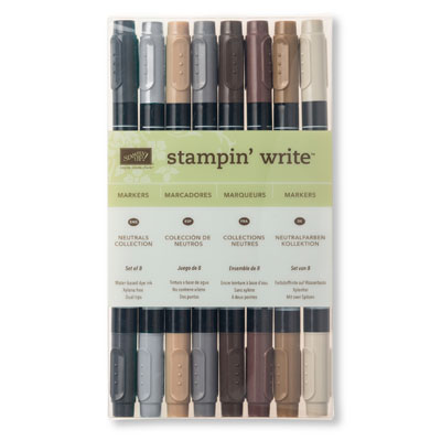 Neutral's Stampin Write Markers by Stampin Up