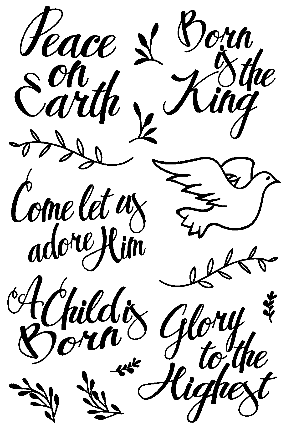Born is the King Stamp Set by Joy Clair
