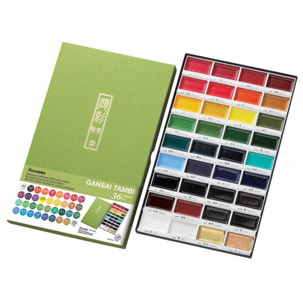 Kuretake Gansai Tambi Set - 36 Colors