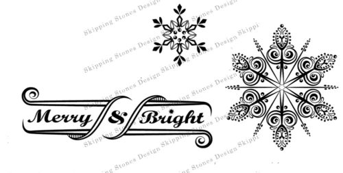 Merry & Bright Stamp Set by Skipping Stones