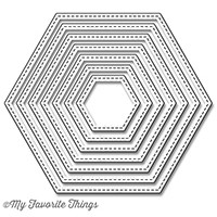 Stitched Hexagons Stax by MFT Die-namics