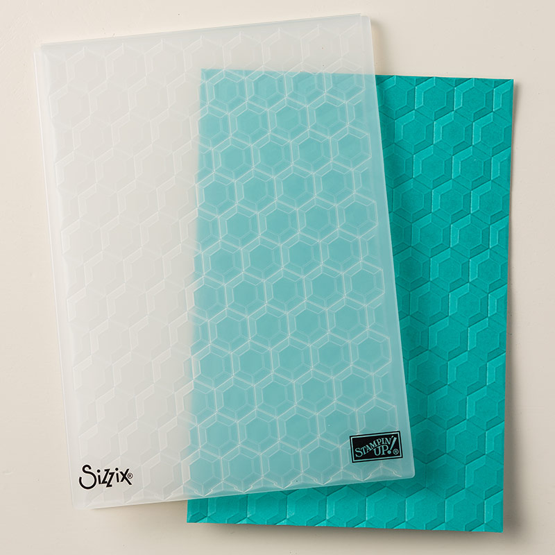 Hexagons Dynamic Textered Embossing Folder by Stampin Up