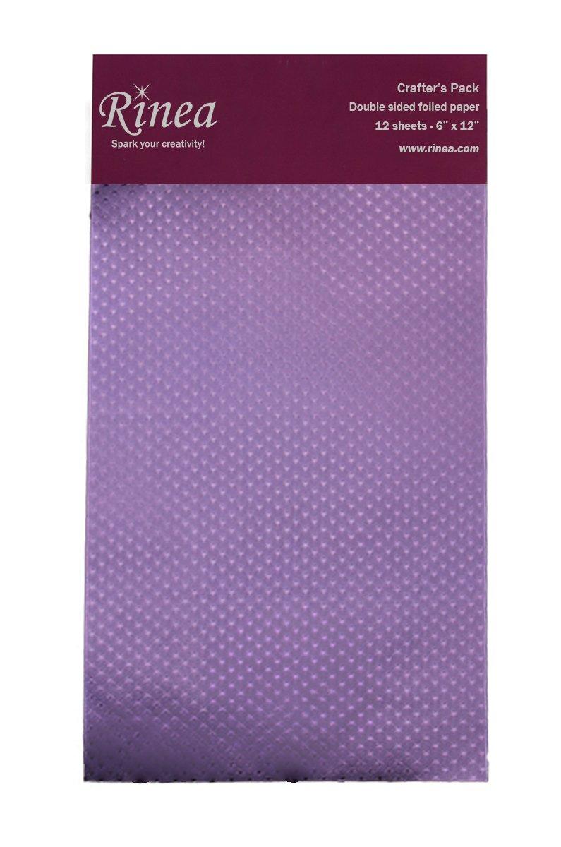 Lavander/Lavander Starstruck Foiled Paper by Rinea