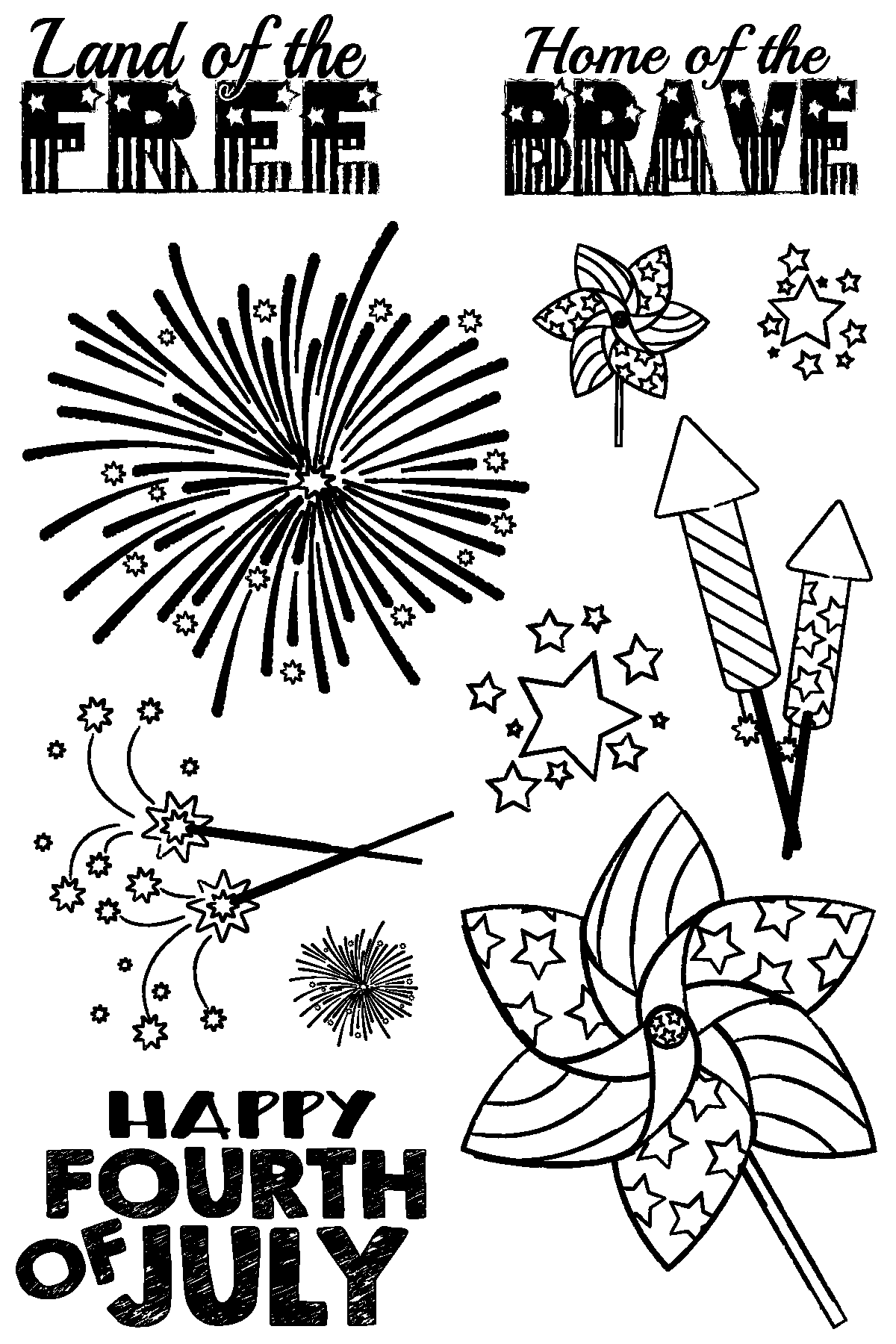 Happy Fourth of July Stamp Set by Joy Clair