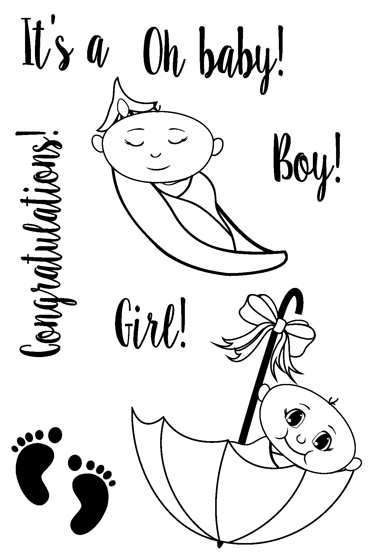 Oh Baby Stamp Set by Joy Clair