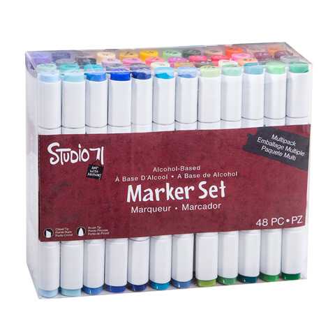 Studio 71 Dual Tip Alcohol Markers - 48 pieces