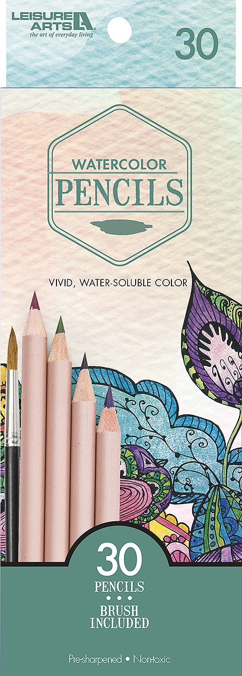 Watercolor Colored Pencils by Leisure Arts