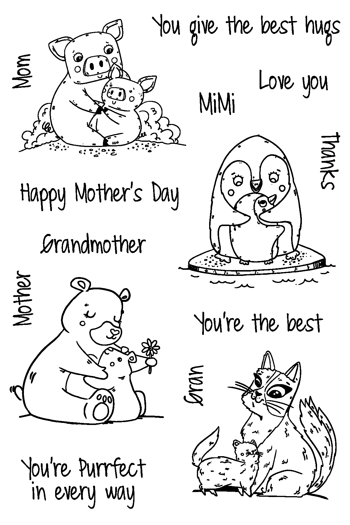 Mother's Day Love Stamp Set by Joy Clair