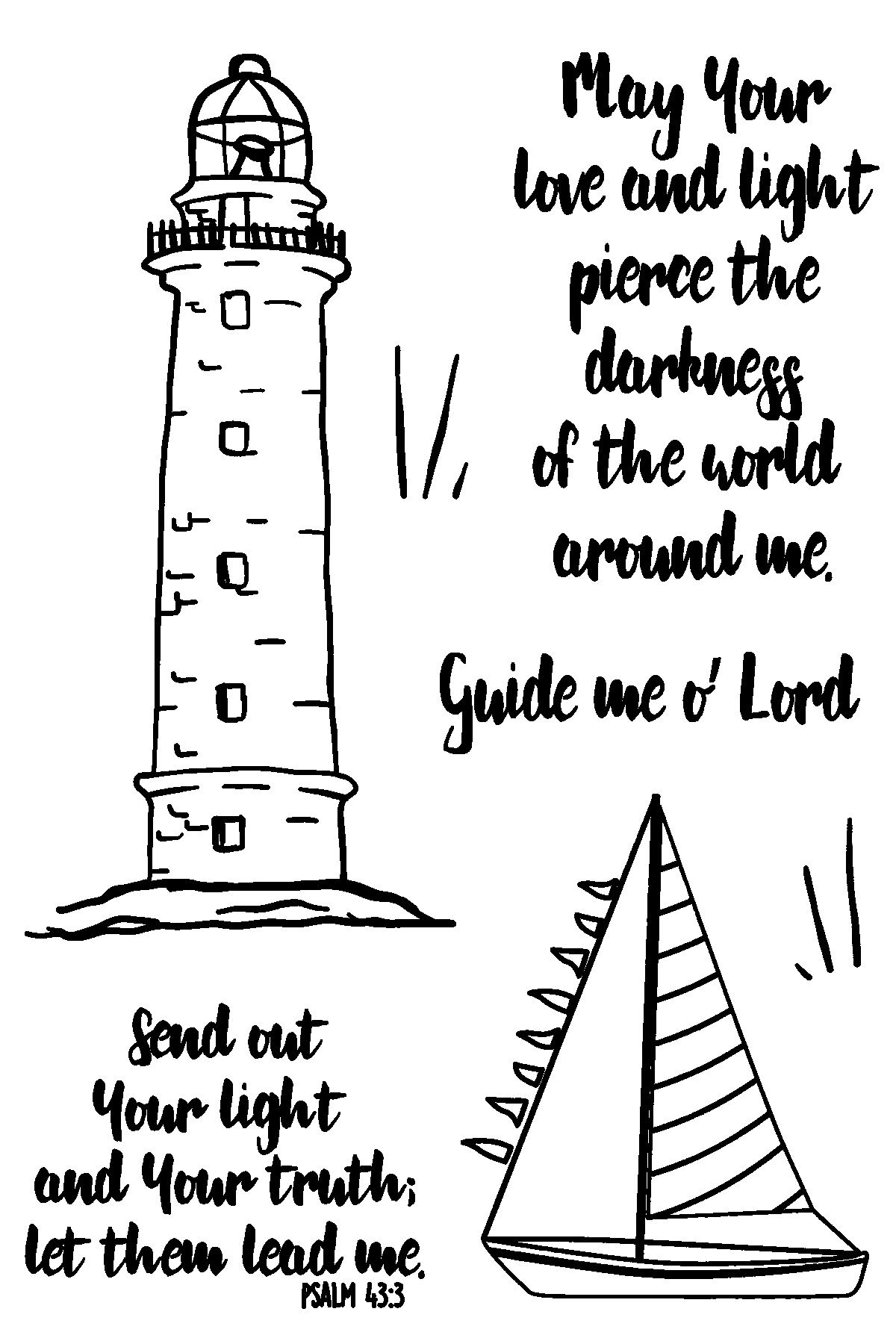 Light House Stamp Set