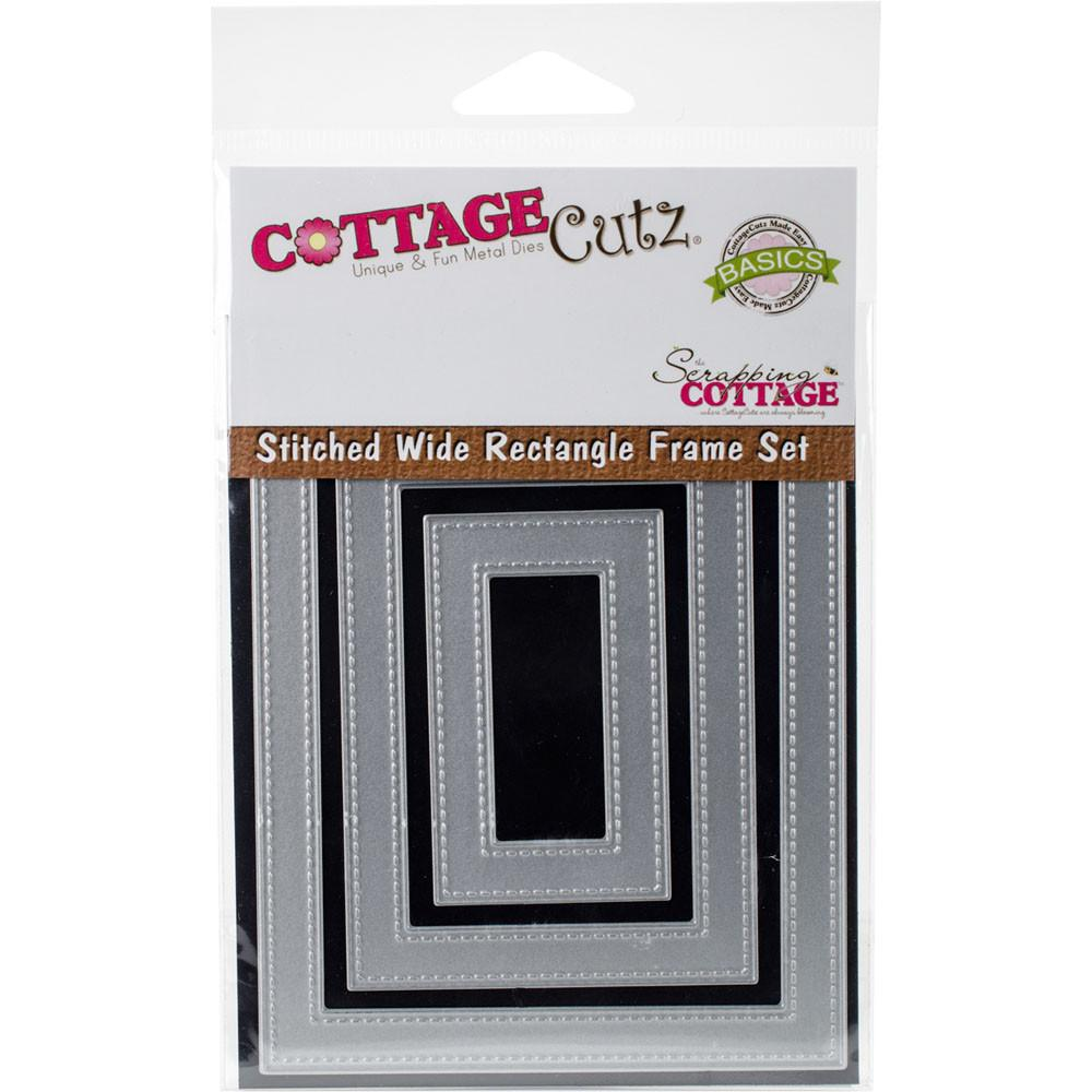 Stitchet Rectangle Frame Die Cuts