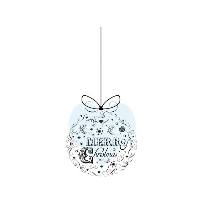 Ornament Merry Chirstmas by Crackerbox & Suzy