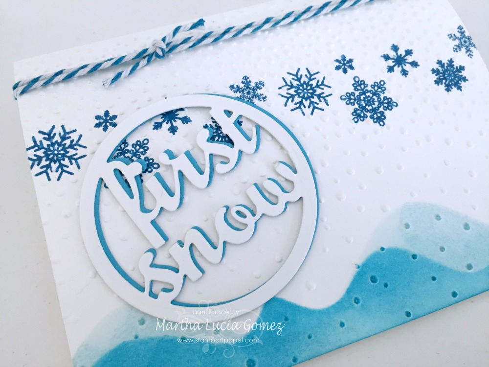 FIRST SNOW BLUE AND WHITE