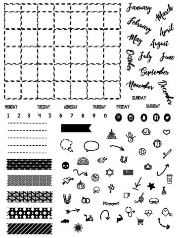Calendar Fun Stamp Set by Joy Clair