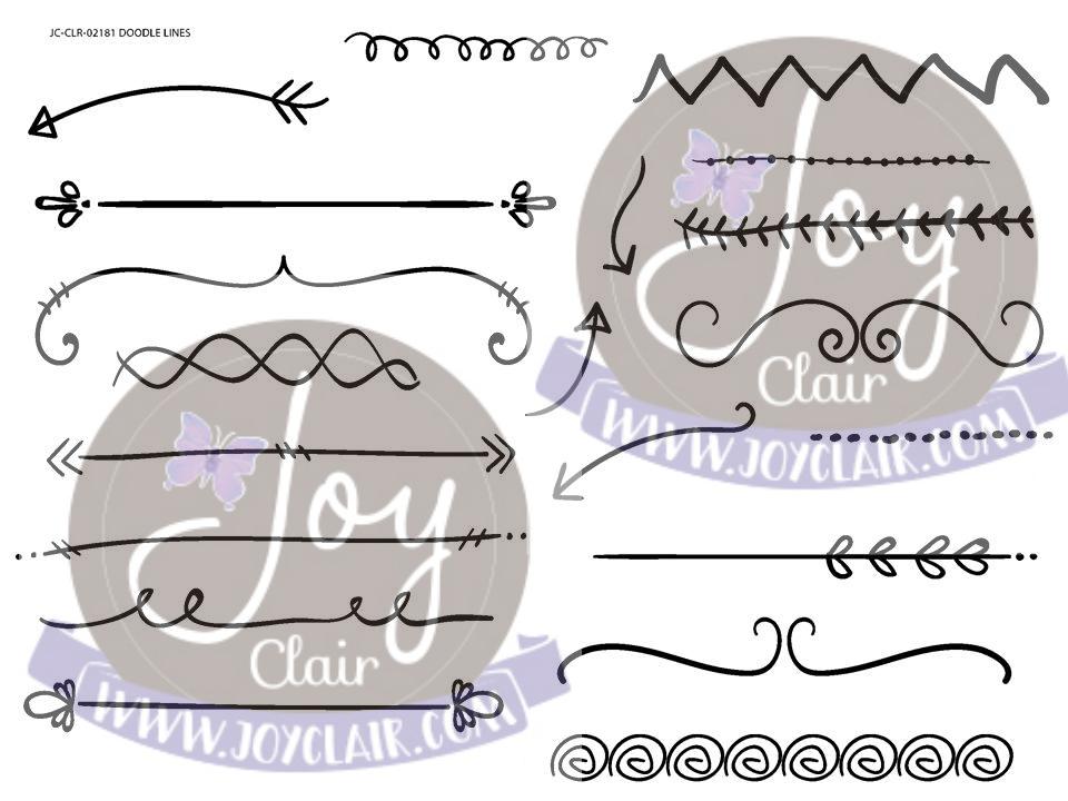 Doodle Lines Stamp Set