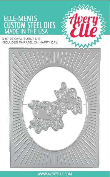 Ovall Burst Elle-ment Die Cut