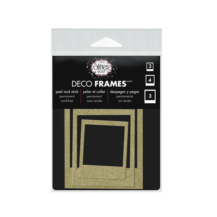 Glitter Dust Photo Frame - Gold