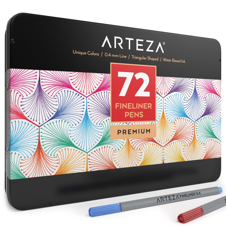 Arteza Fineliner Pens 72 Colors