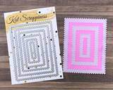 Zig Zag Rectangle Die Cuts
