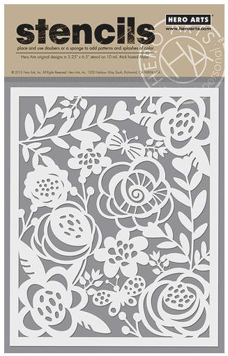 Bold Floral Stencil