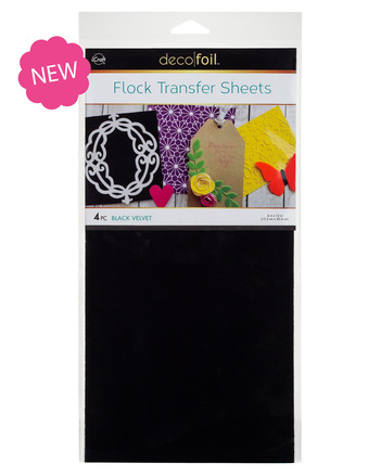 Deco Foil Flock Transfer Sheet - Black Velvet