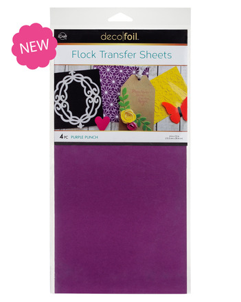 Deco Foil Flock Transfer Sheet - Purple Punch