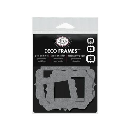 Glitter Dust Vintage Frame - Silver