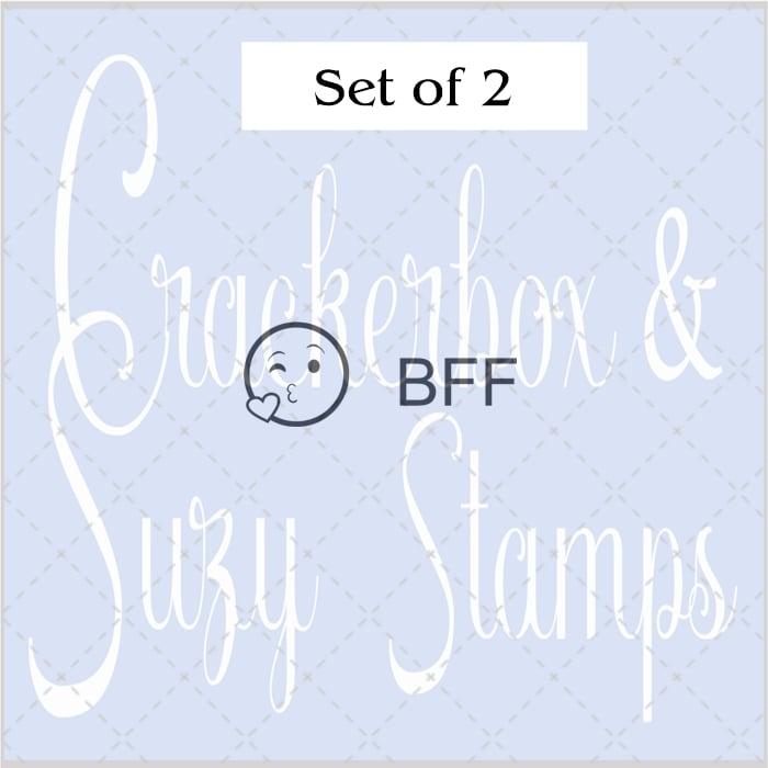 BFF & Emoji Rubber Stamps