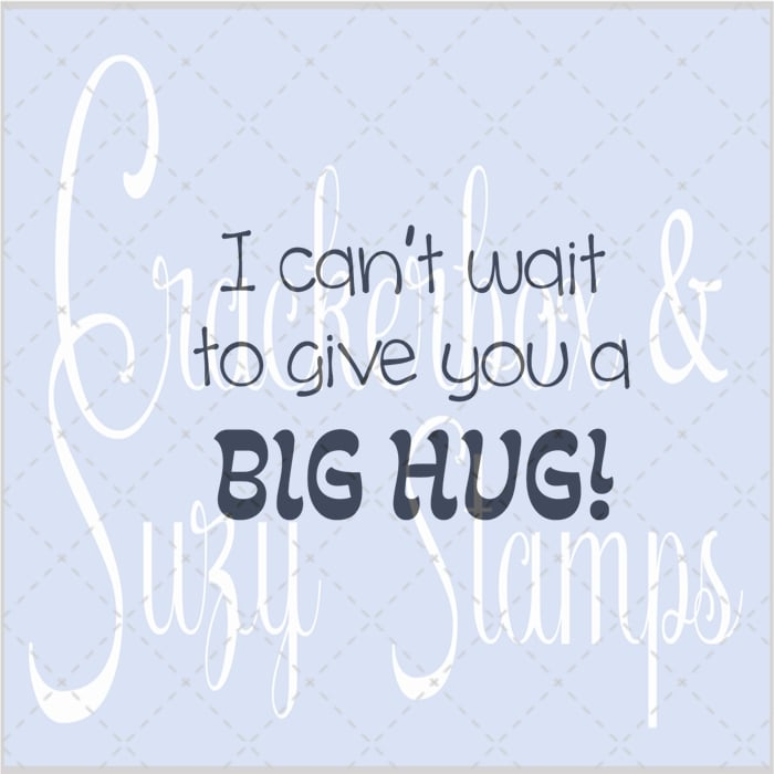 Big Hug Rubber Stamp