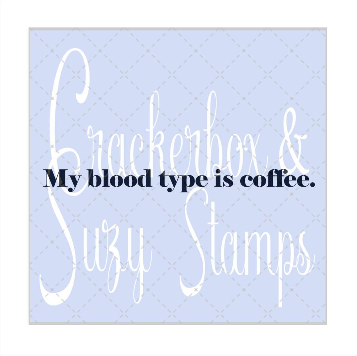 Coffee Blood Stamp